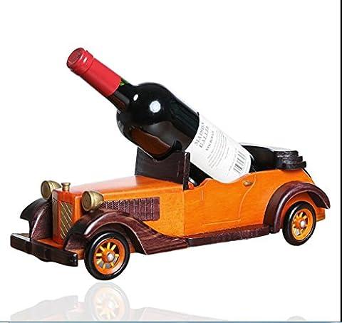casier à vin en bois de style européen créatif voitures classiques, ornements, salon porte-bouteilles de chambre, casier à vin, mettez le casier à vin