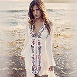 ShouYu playa Swim Suit femenino en la nieve demasiado, apertura, sun Langarm manto en Long Beach, el Resort, en el Bikini, una talla, sabe tejidos