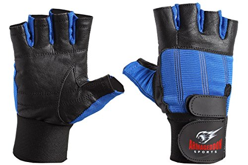 ARMAGEDDON SPORTS Real Piel Fitness Guantes