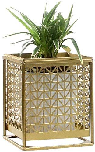 Racks Pflanze Growthhlr-Anlage Ständer Blumenständer-Topf-Halter Metall Balkon Rack-Gold-Einfach Regal Home Garten Dekoration Hohe Qualität (Color : Gold, Size : Small) -