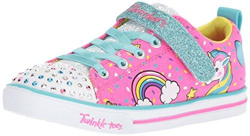 Skechers Mädchen Sparkle Lite-Unicorn Craze Sneaker, (Neon Pink/Multi Npmt), 25 EU