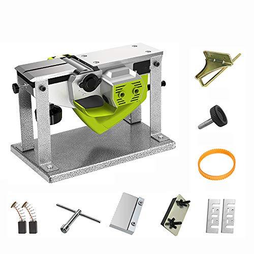 QWERTOUY 220V eléctrico Multifuncional de Madera cepilladora carpintería cepilladora portátil de Escritorio Carpintería Planer Cepillado máquina 1000W