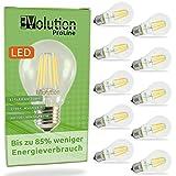 Evolution LED Lampe | 10er E27 6W | Ersetzt 60w Watt Glühbirne | 700 Lumen | A60 Leuchtmittel | 2700 Kelvin warmweiß Fassung