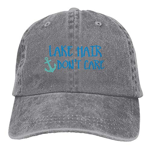 KKAIYA Men s Or Women s Lake Hair Don t Care Denim Jeanet Baseball Hat Adjustable Dad Hat -