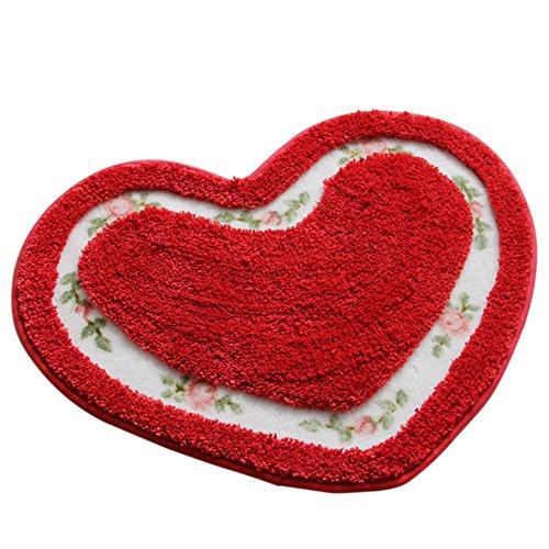floral-pattern-e-cuore-forma-ntiscivolo-assorbente-coperta-di-area-decorativa-tappeto-zerbino-pavime