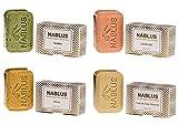 Nablus Soap natürliche Olivenölseife 4er Set Natürliches Olivenöl Lavendel Salbei