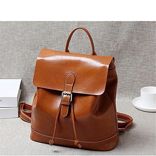 cuoio signore borsa semplice college femminile, il vento del tempo libero,claret brown