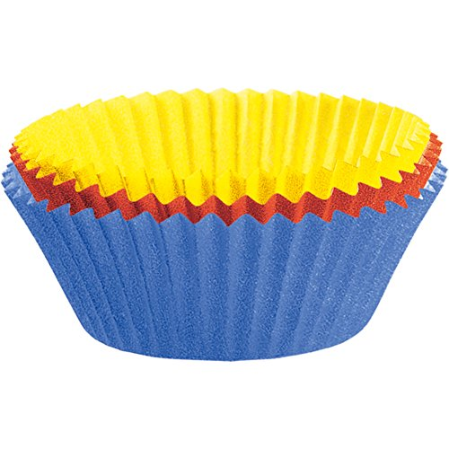 KAISER Muffin-Papierbackförmchen 150Stück farbig sortiert ø 7cm Creativ hochwertiges und leicht ablösbares Papier fettdicht ideal für süß und herzhaft