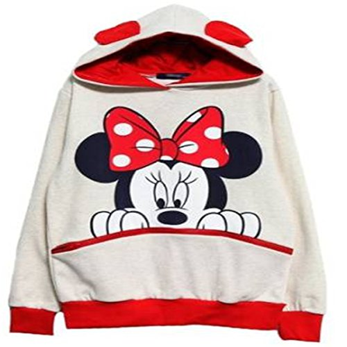reine-a-la-mode-fashion-sweats-a-capuche-de-femme-casual-mickey-mouse-s-blanc