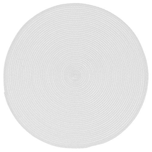 Paris Prix - Set De Table Rond 38cm Blanc