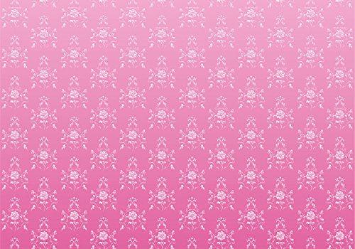 Fototapete Barock Pink Muster L 300 x 210 cm - 6 Teile Vlies Tapete Wandtapete - Moderne Vliestapete...