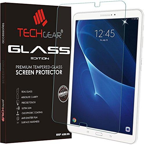 vetro temperato tablet 10.1 TECHGEAR Vetro Temperato Compatibile con Samsung Galaxy Tab A 10.1 Pollici (SM-T580/SM-T585) - Autentica Pellicola protecttiva in Vetro Temperato Salvaschermo