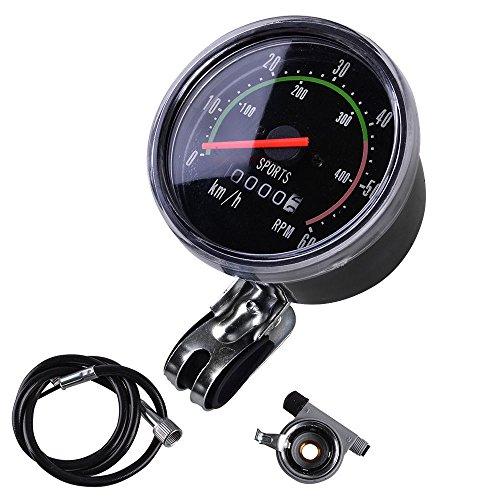 YXMxxm Fahrrad-Mini-Tachometer - Old School Style Fahrrad-Tachometer Analog Kilometerzähler Klassischer Stil für Exercycle & Bike