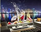 Yosot 3D Benutzerdefinierte Cocktail Getränke Obst Essen Wasserdichte Küche Tapete, Coffee Shop Restaurant Ktv Bar Esszimmer-140cmx100cm
