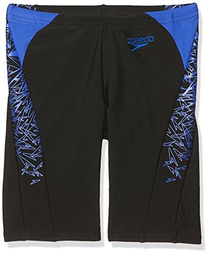 Speedo Jungen Boom Splice Jammer Swim Shorts, Jungen, Boom Splice Jammer, schwarz/blau, 140