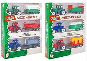 GLOBO- Tractor con Lorry 3 Piezas 2 asst (39222), (1)