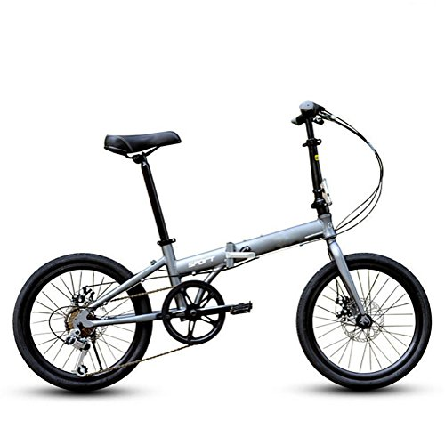 MASLEID 20 pouces vélo alliage de pliage 6 vitesses vélo de route vélo , grey