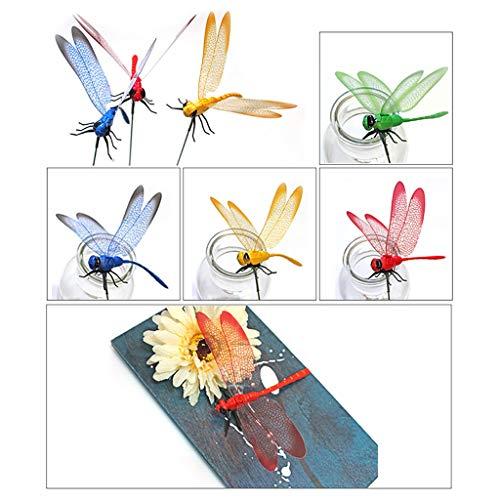 Dekorative Blumenkränze,TwoCC Ornamente für Libelle Garten Garten Hof Pflanzgefäß bunt wunderlich Libelle -