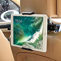Tablet Halterung Auto, POOPHUNS KFZ-Kopfstützen Tablet Halterung, 360 Grad Drehung, Einfache Installation, Universal füriPad 2/3/4/Mini/Air, Samsung Galaxy Tab und die Meisten 6-11 Zoll Tablets