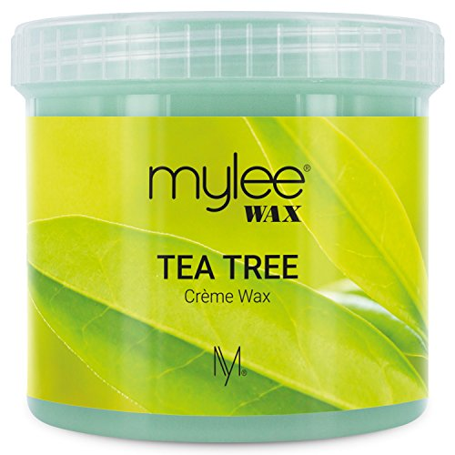Price comparison product image Mylee Tea Tree Soft Creme Wax for Sensitive Skin 425g, Microwavable & Wax Heater Friendly, Ideal for All Body Area Stubborn Coarse Hair Removal