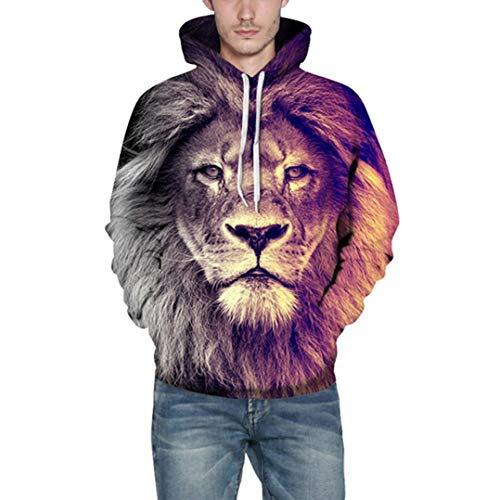 Sannysis Herren Slim Fit Hoodie Long Sleeve Kapuzenpullover 3D Druck Muster Sweatshirt Pullover