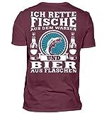 Fischer Shirt · Angeln · Lustiges Geschenk für Angler · Motiv: Ich rette Fische aus Wasser - Herren Shirt