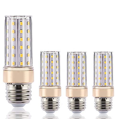 ILAMIQI - Bombillas LED E27 regulables, 10 W, equivalente a 100 W, 1200 lm, bombillas LED de candelabro de maíz, luz blanca cálida, 3000 K, sin parpadeo, tubular, paquete de 4