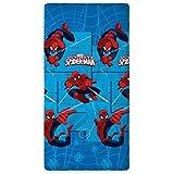 Marvel Ultimate Spiderman Sábana ajustable 90 x 200 cm, 100% Algodón