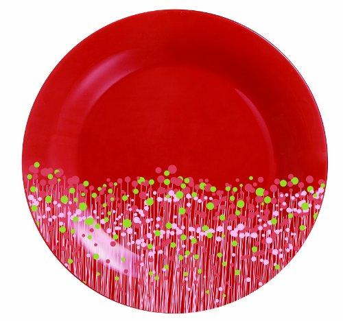 Luminarc 9202482 Lot de 6 Assiettes Plates 25 cm Flowerfield Red