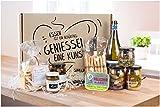 Italienisches Feinkost Geschenkset APERITIVO – Feinfruchtiger Prosecco und italienische Antipasti als leckere Vorspeisen für einen perfekten Abend mit Freunden | Delikatessen Präsentkorb Italien