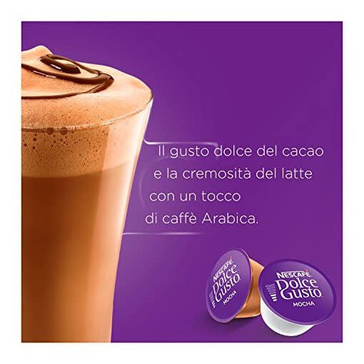 NESCAFÉ Dolce Gusto Mocha Coffee Pods, 16 Capsules (24 Servings, Pack of 3, Total 48 Capsules)