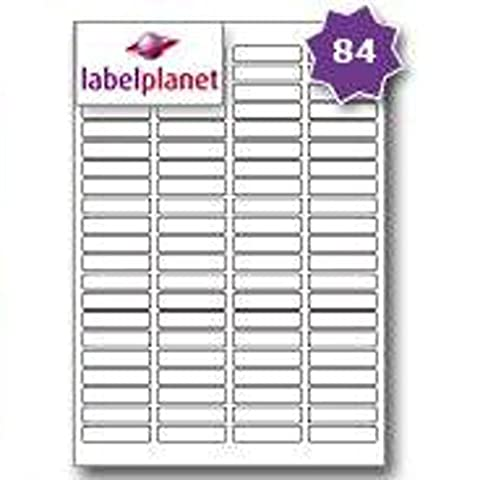 84 Per Page/Sheet, 5 Sheets (420 Sticky Labels), Label Planet®