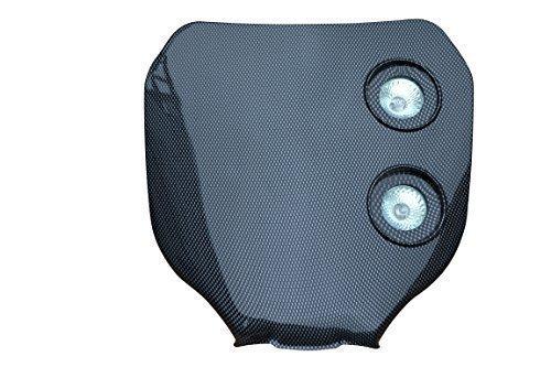 Faro delantero 12v/20W para todas motos de Motocross & Enduro, color fibra...