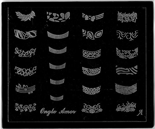 Plaque de Stamping FRENCH MANUCURE version de luxe | ONGLE AMOR