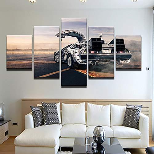 LovelyHomeWJ Moderna Stampato Immagini Home Wall Art Modulare Poster 5 Pannello Auto Fiamma Pneumatici Pittura su Tela Decorazione Soggiorno 20x35 cm2 20x45 cm2 20x55 cm1