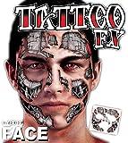 Die besten FX-Halloween-Kostüme - Erwachsenen Cyborg Roboter Face Transfer Tattoo Gesichtsfarbe Special Bewertungen