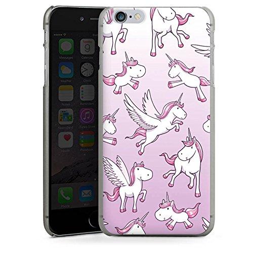 Apple iPhone X Silikon Hülle Case Schutzhülle Einhorn Unicorn Pferde Girls Hard Case anthrazit-klar