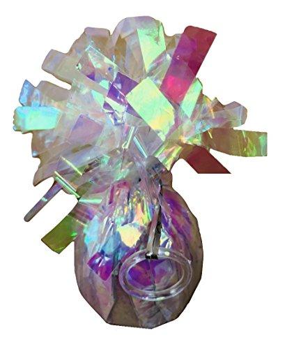 INERRA Folie metallisch Ballon Gewichte - 4er Packung - mit praktischer Ballon Befestigung Ring und 50 metres of Kringelband - Helium Geburtstagsparty Hochzeit Veranstaltungen - Schillernd