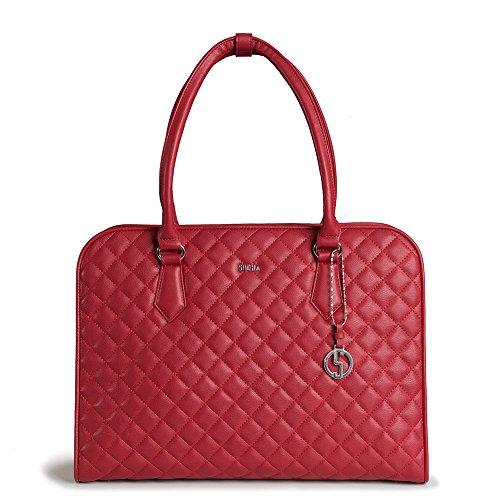 SOCHA SO-RED-DIAMOND Designer Business Tasche für Damen, 39,11 cm (15,6 Zoll) rot