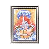 Yovvin 5D Diamant Malerei Kit | 30 x 40 cm DIY Diamant Stickerei Kreuzstich Bastelset | Home Wohnzimmer Schlafzimmer Dekor | Beste Geschenk für Kinder, Freunde, Liebhaber und Familie (Baby Elefant)