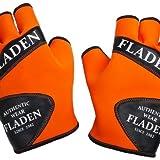 Fladen Authentic Wear–Paar Orange & Schwarz, & fingerlose Weiches Neopren Handschuhe–Speziell für Angeln