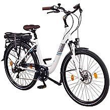 "NCM Munich 36V, 26"" / 28"" Zoll Elektrofahrrad, Herren & Damen Pedelec, E-Bike City Rad, 250W Bafang Heckmotor, 13Ah 468Wh Lithium-Ionen-Akku, mechanische Scheibenbremsen"