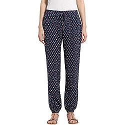 Berydale Pantalon fluide en tissu doux pour dame, Bleu Marine/Rouge/Bleu/Beige, 40