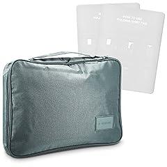 Idea Regalo - Navaris custodia porta camicia da viaggio - contenitore per camicie cravatte da valigia con 2 scomparti interni sacchetto organizer valigia grigio chiaro