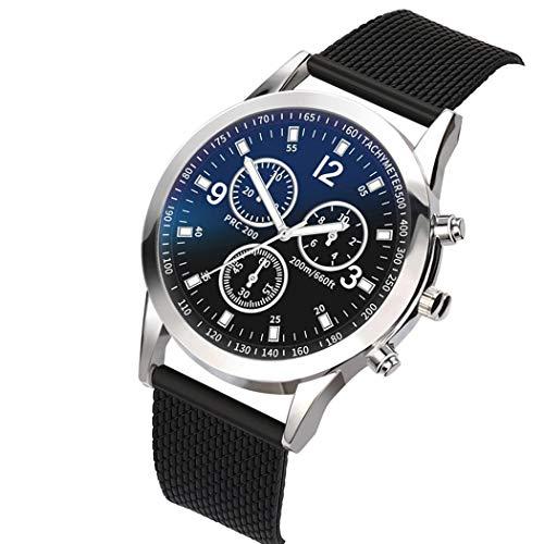 Porrity Unisex Fashion Round Shape Folding Buckle Closure Quartz Wristwatch Wrist Watches