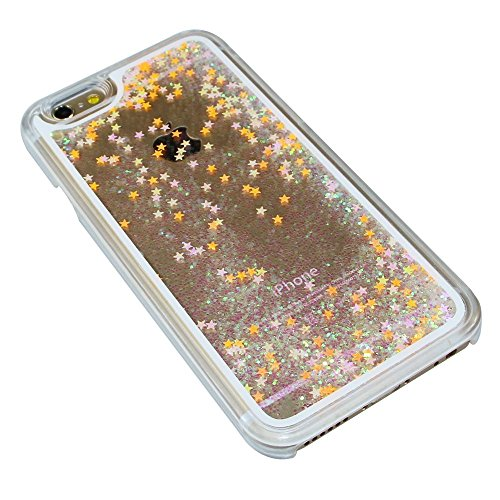 Glitzer Hülle für iPhone 6S Plus,Transparent Hülle für iPhone 6S Plus,iPhone 6 6S Plus TPU Case Schutzhülle Silikon Clear Case Etui,EMAXELERS iPhone 6S Plus Hülle Silicone,Niedliche Pulm Blumen Flower Fluorescent Star 5
