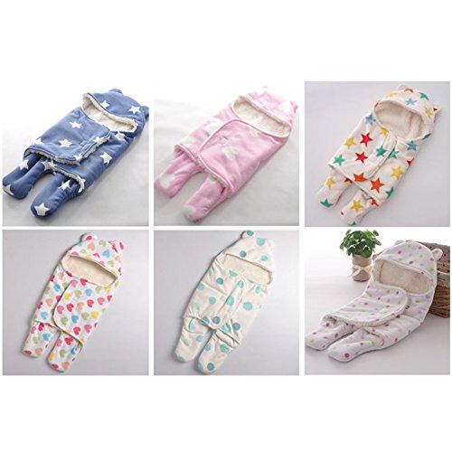 ECYC® Baby Swaddle Wrap Warm weichen Villus Neugeborenen Schlafsack, blau
