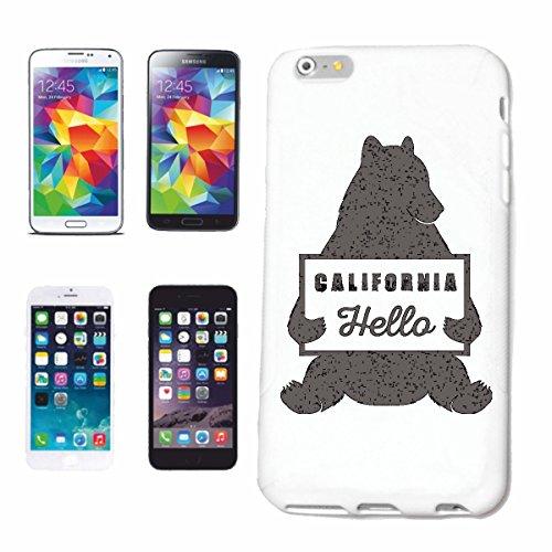 Handyhülle Samsung Galaxy S7 Edge HELLO CALIFORNIA EISBÄR BRAUNBÄR IN KALIFORNIEN EISBÄR BRAUNBÄR TEDDYBÄR BÄR BÄREN Hardcase Schutzhülle Handycover Smart Cover für Samsung Galaxy S7 Edge in Weiß (California Bar Edge)