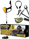 Complete Metal Detector Kit with Bag, Headphones, Shovel & Pick/Compass Tool for Kids & Adults