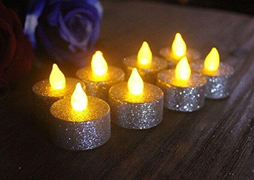loguide F ¨ ¹ hrte Llama indescriptible Votive té luz vela funcionamiento mediante batería iluminación F ¨ ¹ r boda Navidad decoración 12pcs